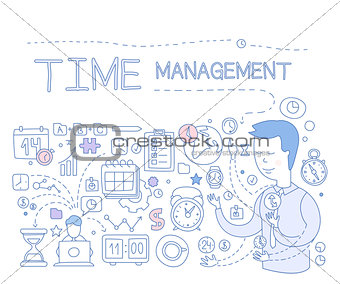 Time Management Infographics. Vector Illustration