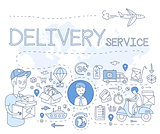 Delivery Service Infographics. Vector Illustration