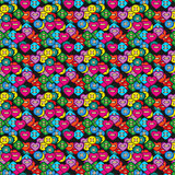 Colorful Sewing Buttons Seamless Pattern. Vector