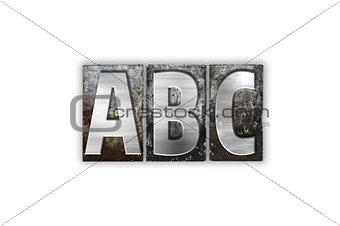 ABC  Concept Isolated Metal Letterpress Type
