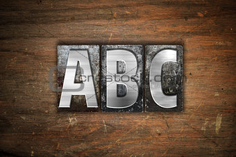 ABC  Concept Metal Letterpress Type