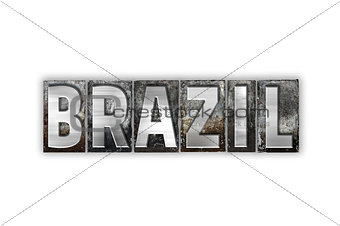 Brazil Concept Isolated Metal Letterpress Type