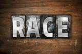 Race Concept Metal Letterpress Type