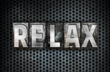 Relax Concept Metal Letterpress Type