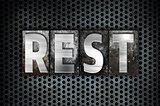 Rest Concept Metal Letterpress Type