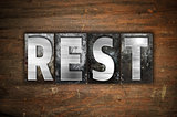 Rest Concept Metal Letterpress Type