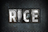 Rice Concept Metal Letterpress Type