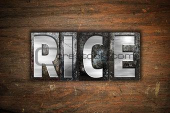 Rice Concept Metal Letterpress Type