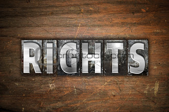 Rights Concept Metal Letterpress Type