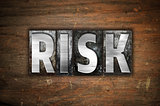 Risk Concept Metal Letterpress Type