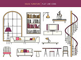 Flat line furniture set