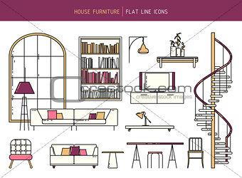 Flat line furniture set