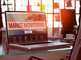 Laptop Screen with Market Monitoring Concept.