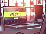 WEBRTC Concept on Laptop Screen.