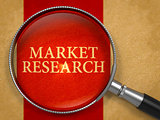 Market Research Concept through Magnifier.