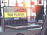 Top Player Concept on Laptop Screen.
