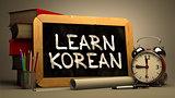 Learn Korean Handwritten on Chalkboard.