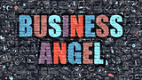 Business Angel Concept with Doodle Design Icons.
