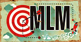 MLM on Poster in Grunge Design.