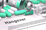 Hangover - Medical Concept with Blurred Background.