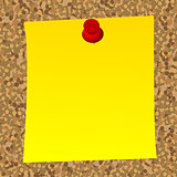 Blank  note paper on cork  board