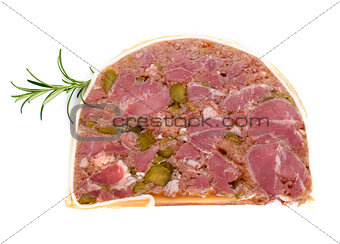 slice of head cheese