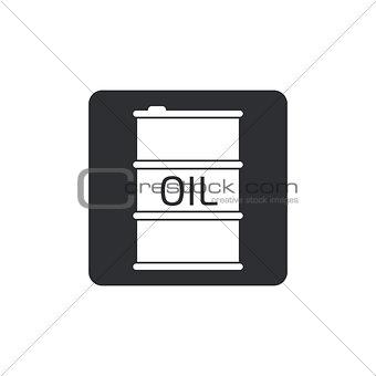 Oil Barrel icon or sign, vector illustration. black icon