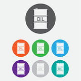 Oil Barrel icon or sign, vector illustration. color icon