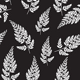 Abstract Natural Spring Seamless Pattern Background with Leaves.