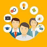 Helping an Individual Person, Student, Business Concept