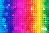 Abstract rainbow background with circles