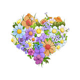 Bright floral heart