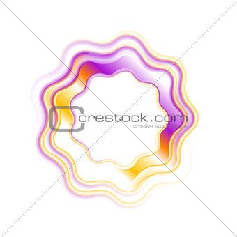 Abstract bright wavy logo ring design