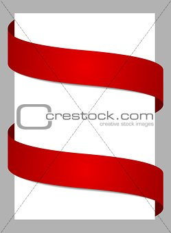 Abstract background with red ribbons