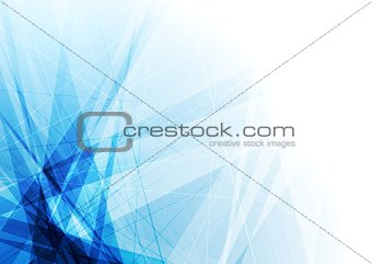 Bright blue geometric shapes tech background