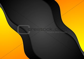 Bright wavy corporate background