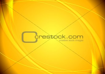 Abstract yellow wavy pattern