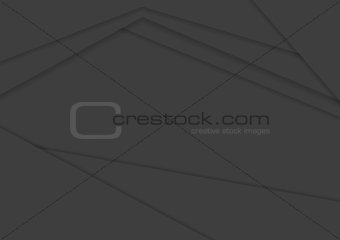 Corporate black abstract vector background