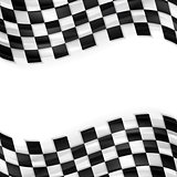 Finish wavy flag design. Black and white squares