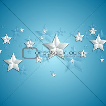 Grey stars on blue background