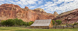 Panorama of the Gifford barn in Capitol Reef