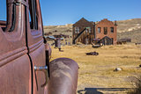 Detail of a rusty car in Bodie State Park