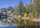 Eagle lake, California in the fall