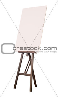 Painting tripod with empty cardboard