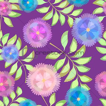 Abstract Elegance Seamless pattern  floral background