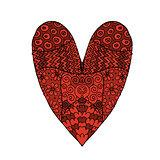 Love, valentine heart, sketch for your design