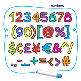 Cartoon Colorful Doodle Numbers