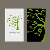 Business card design, green tree
