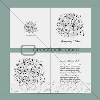 Greeting card design, music template