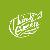 Think green. Lettering for your design